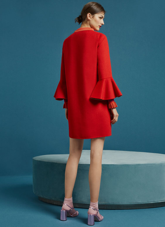 Red reversible coat