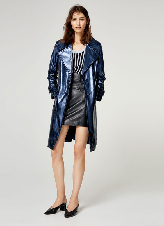 Metallic blue coat