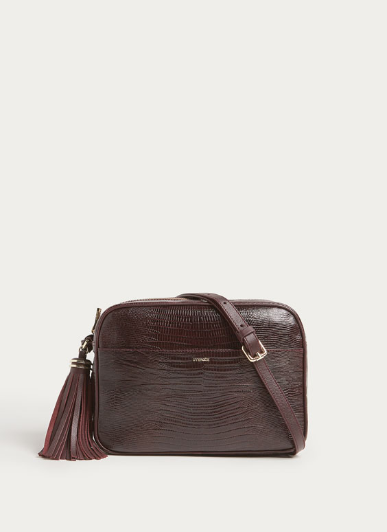 Maxi leather crossbody bag
