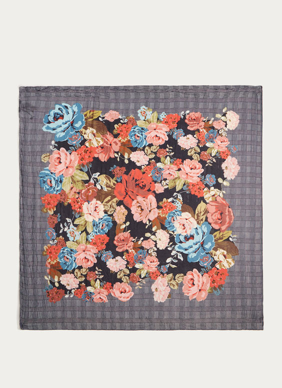 Foulard plisado flores