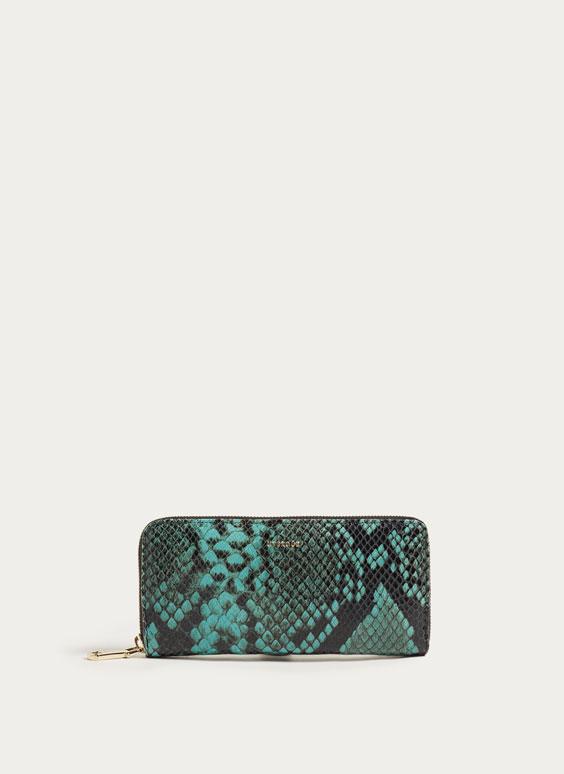 Δερμάτινο πορτοφόλι σε όψη φιδιού
