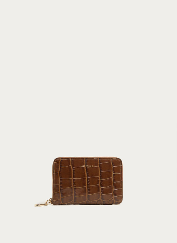 Small mock croc wallet