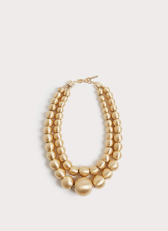 Gold-toned sphere necklace