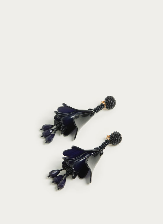 Long bell-shaped earrings