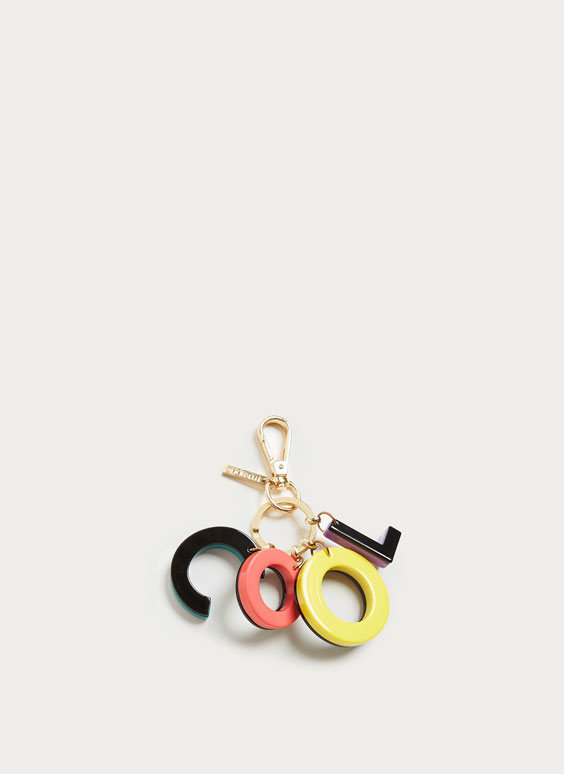 Multicoloured 'Cool' keyring
