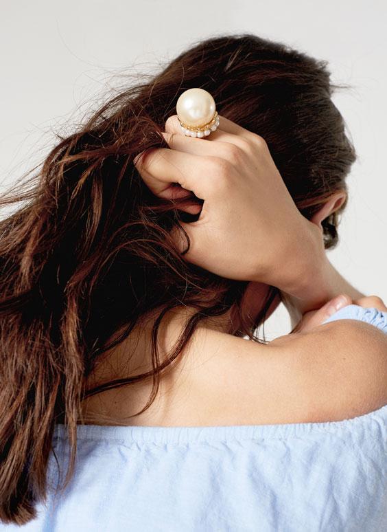 Голям пръстен с перла