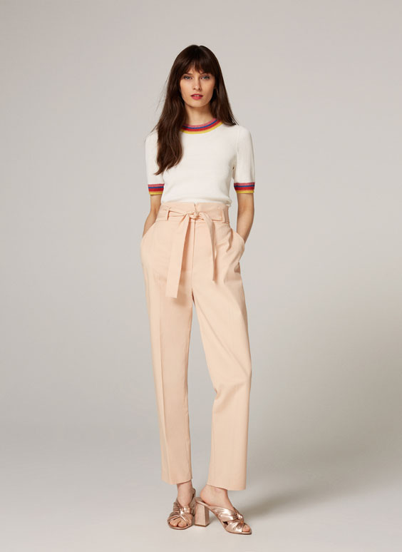 Basic trousers with bow