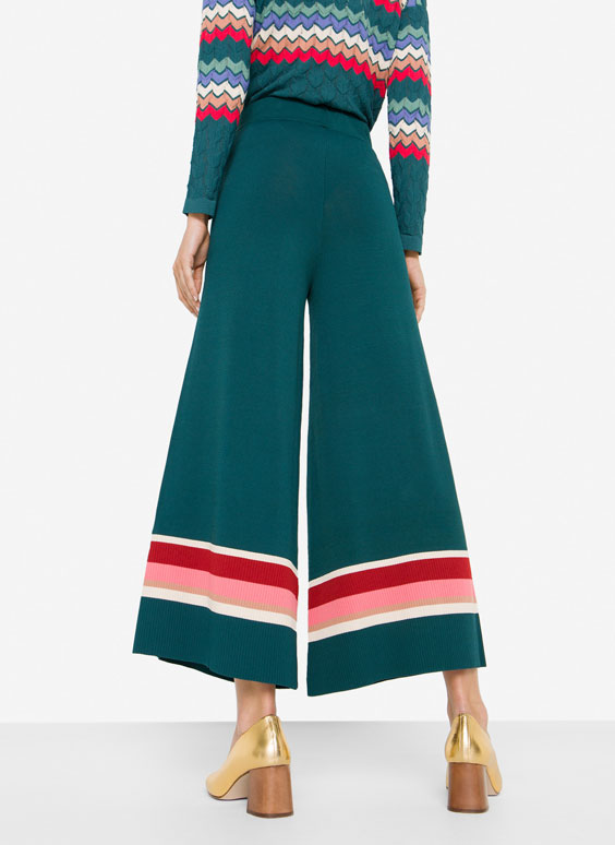 Knit culotte trousers