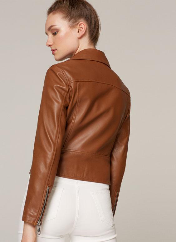 Camel leather jacket