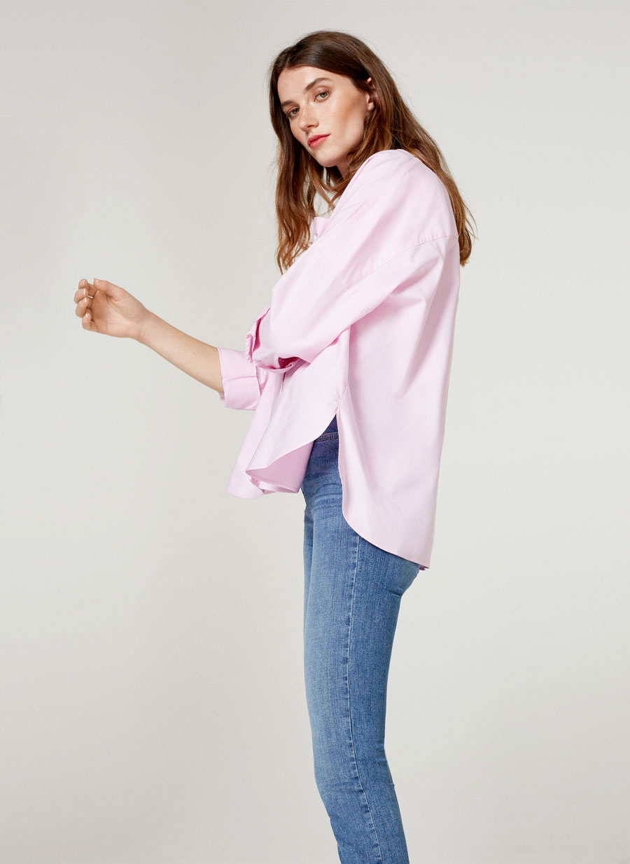 Pink oversized shirt - View all - Ready to wear - Uterqüe United ...
