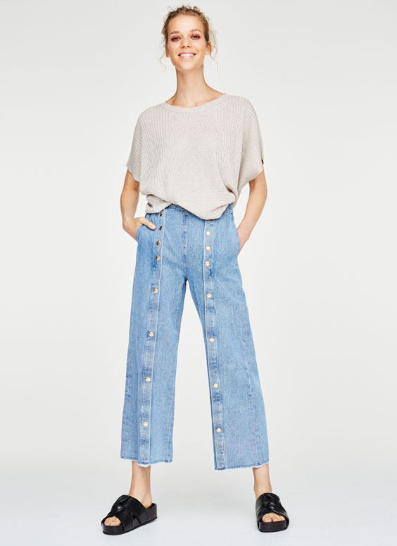 Snap-button jeans