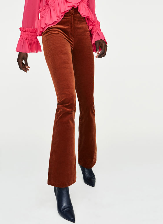 Corduroy-effect trousers