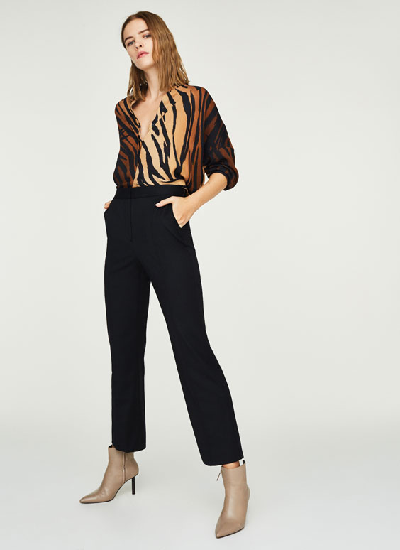 Masculine trousers