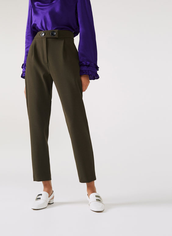 Double button trousers