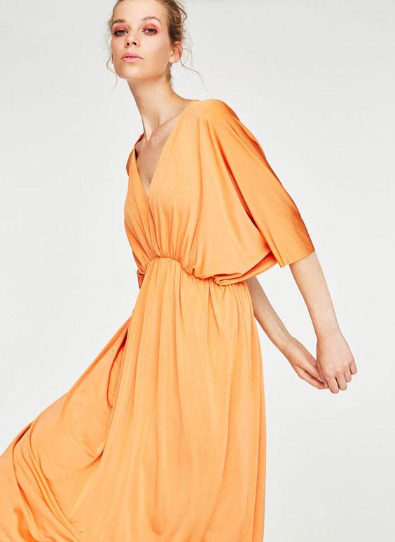 Drapiruota suknelė