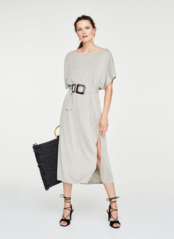 Oversize-Strickkleid