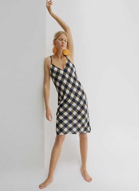 Gingham check camisole dress