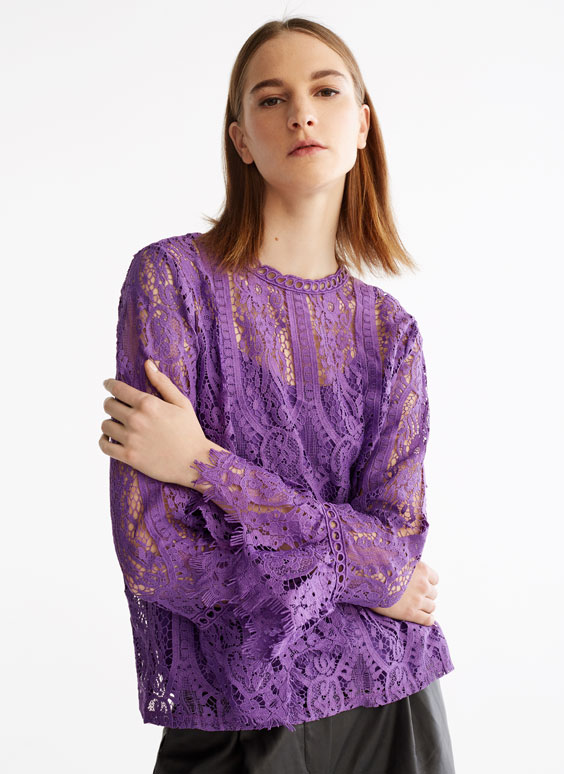 Purple crochet shirt