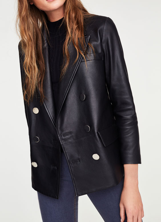 Nappa leather blazer