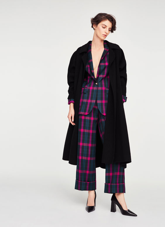 Voluminous wool coat