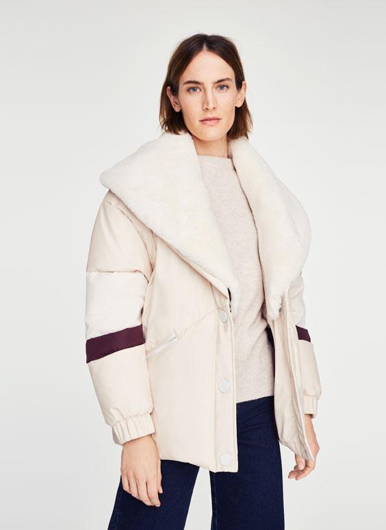 运动风羽绒外套