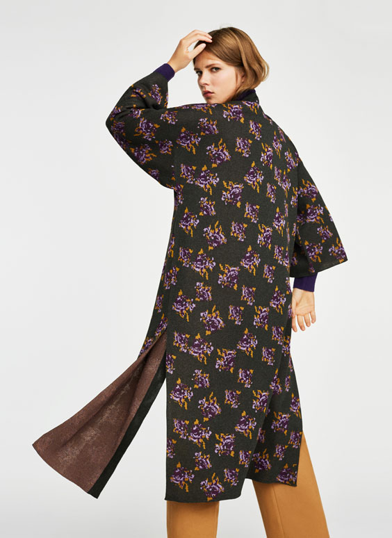 Кимоно с цветочным рисунком
