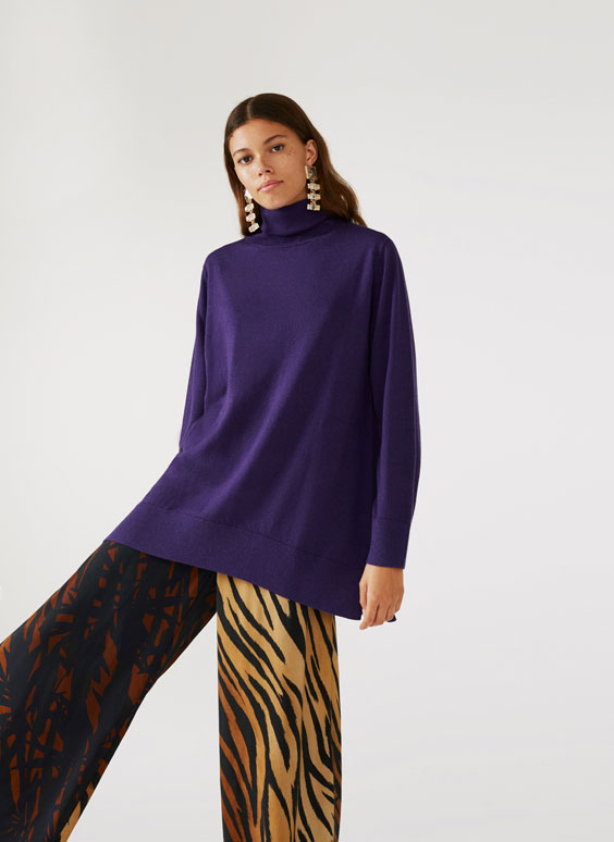 Megztinis su aukšta apykakle