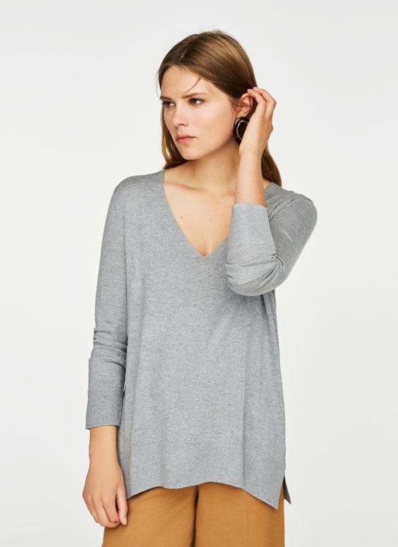 Базовый свитер с V-образным вырезом