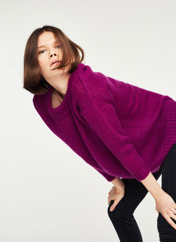 High neck mohair sweater