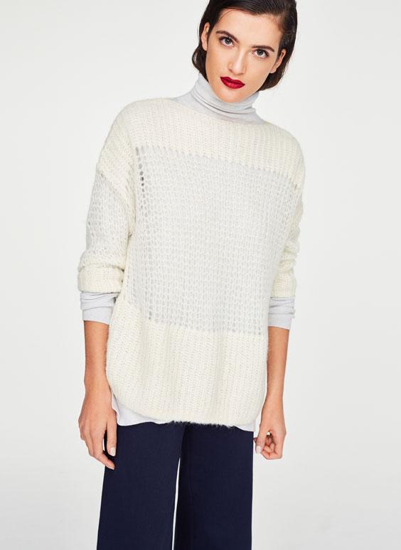 Fishnet-Pullover