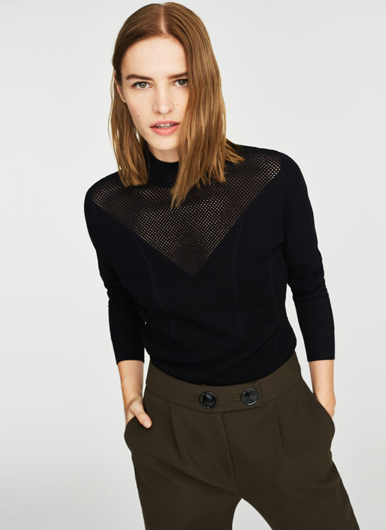 Embelished knit sweater