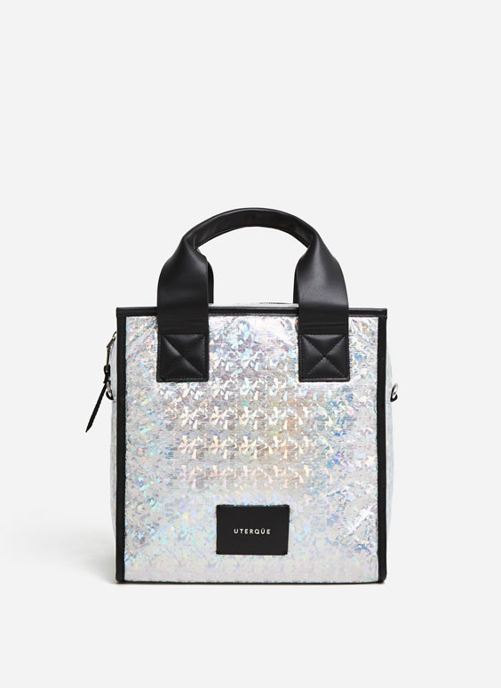 Iridescent mini tote bag
