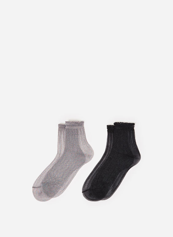 2er-Pack Socken mit Glanzfinish