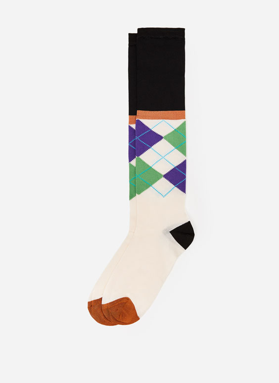 Long diamond socks