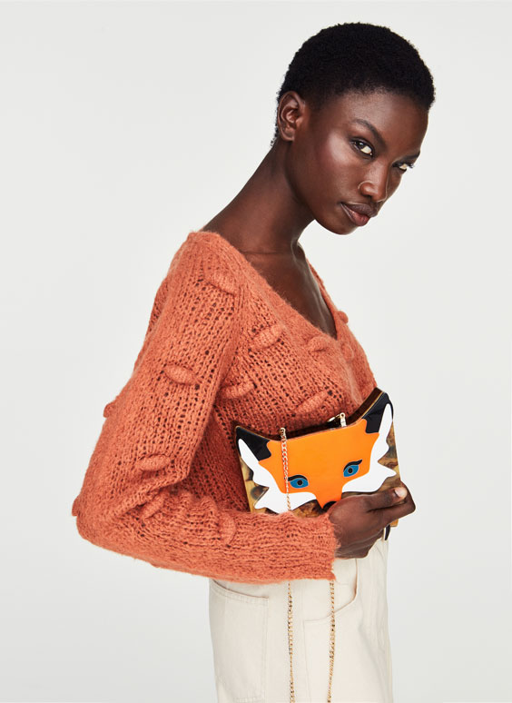 Clutch bag fox