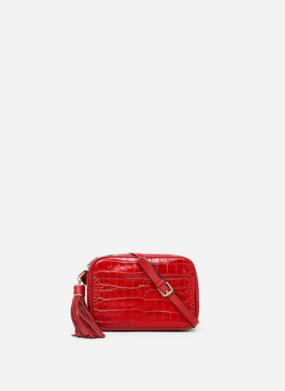 Mock croc crossbody bag
