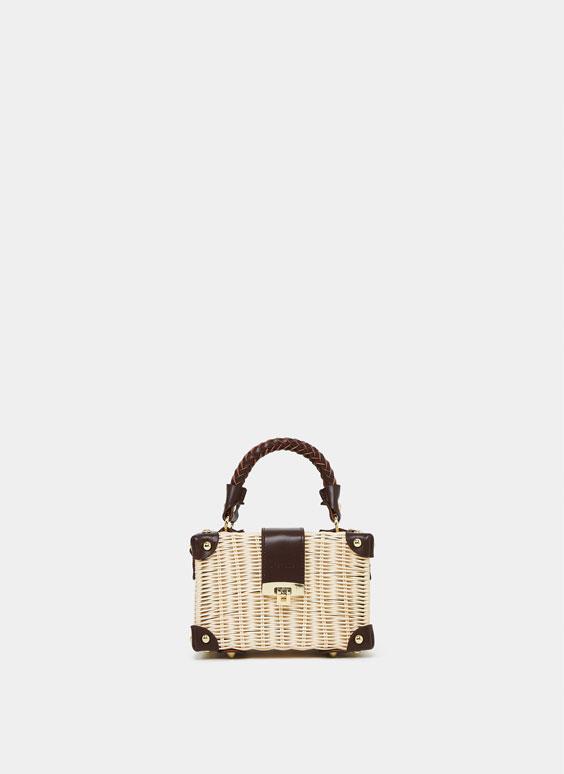 Чанта, тип кутия от рафия
