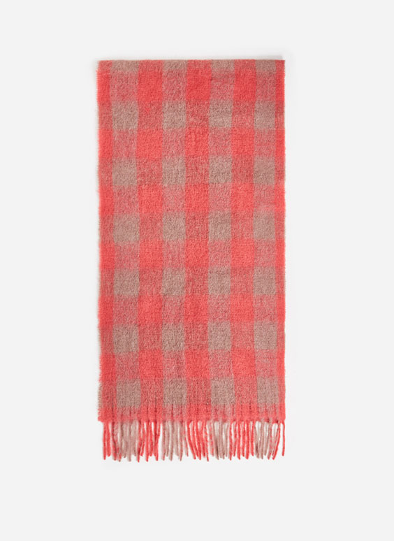 Tartan checked scarf