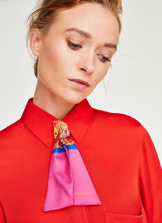 Μίνι μαντίλι γραβάτα με σχέδιο ψηφιδωτού