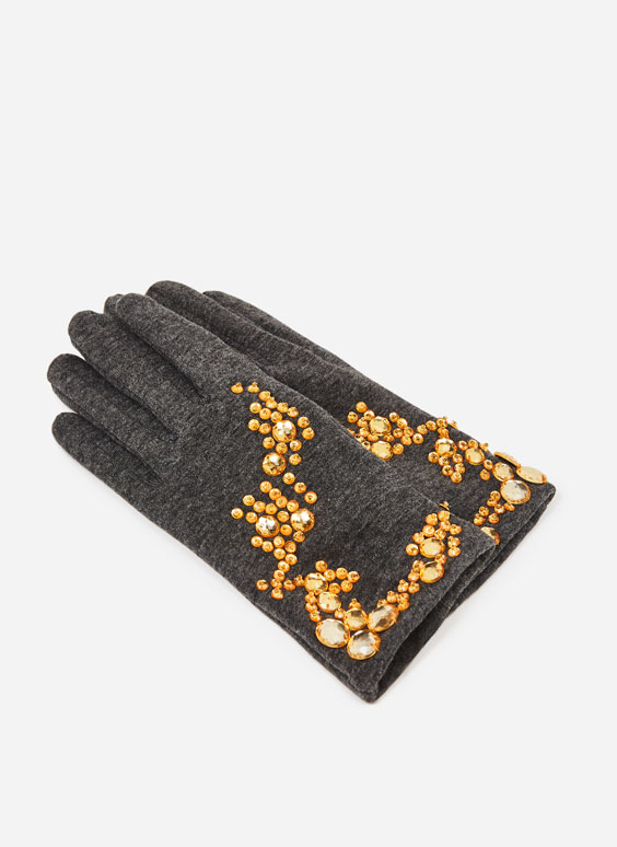 Bejewelled gloves