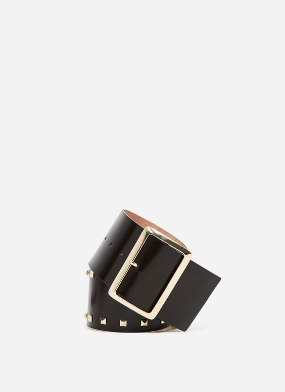 Wide studded belt