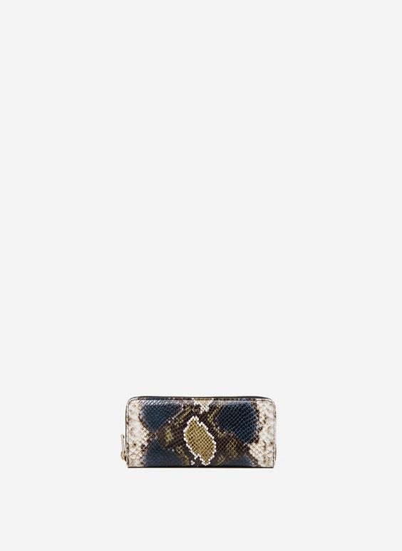 Fine snakeskin effect wallet