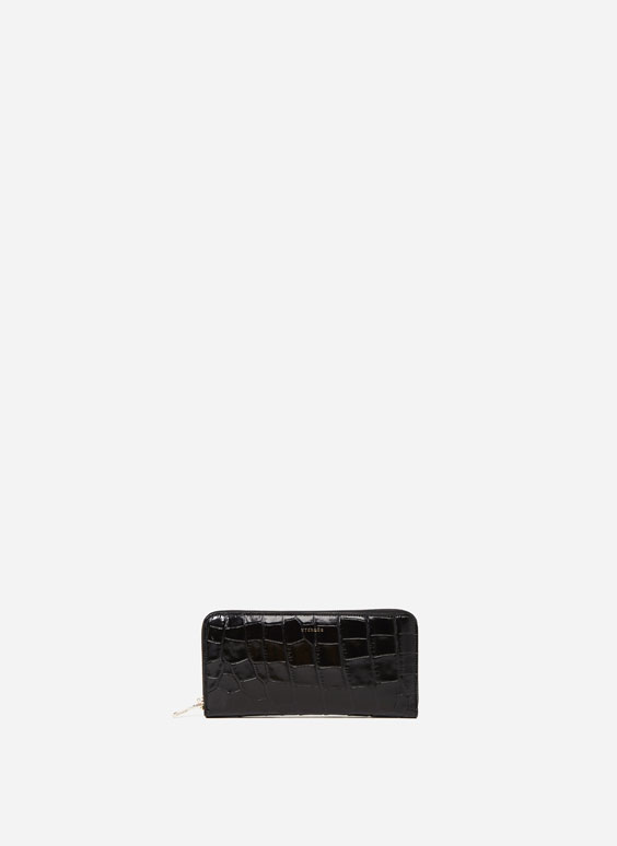 Crocodile print wallet