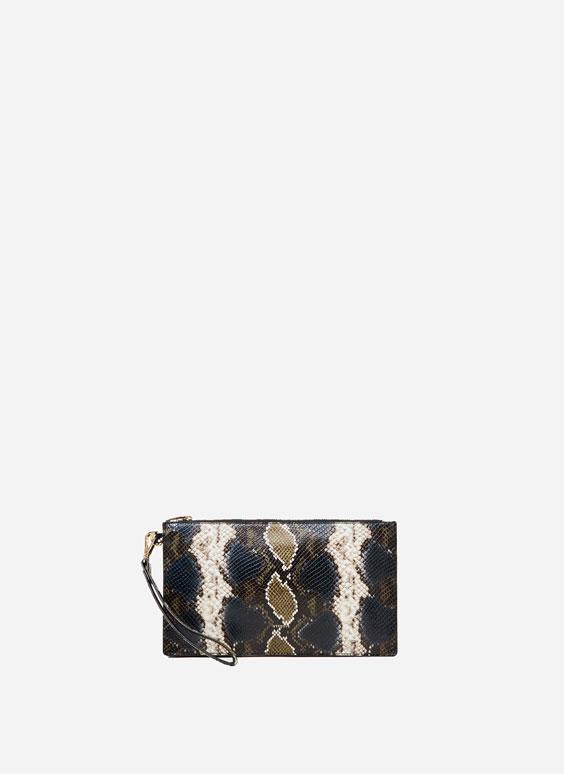 Geantă-plic cu presaj piele de șarpe