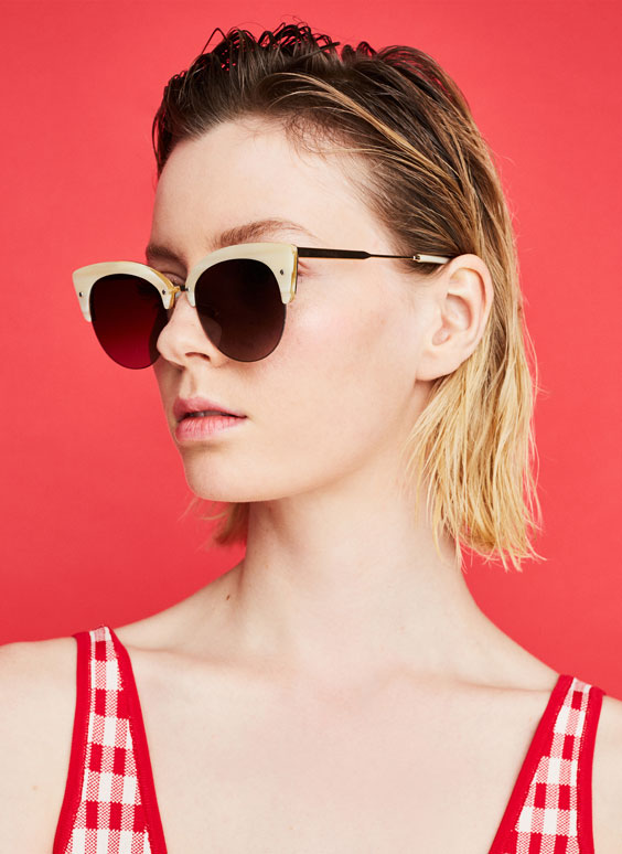 Ivory brow sunglasses