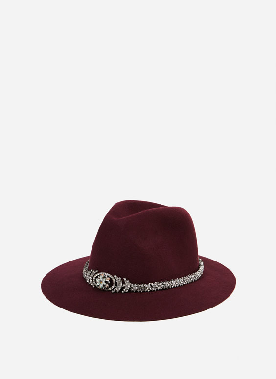 Bejewelled hat