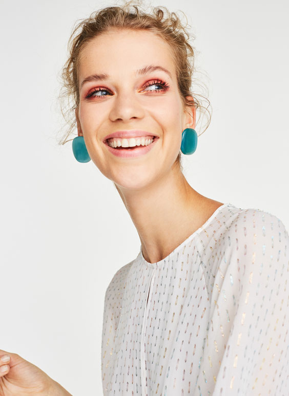 Ombré earrings