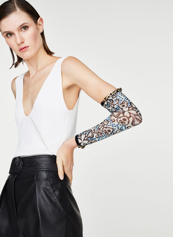 Bejewelled arm warmers