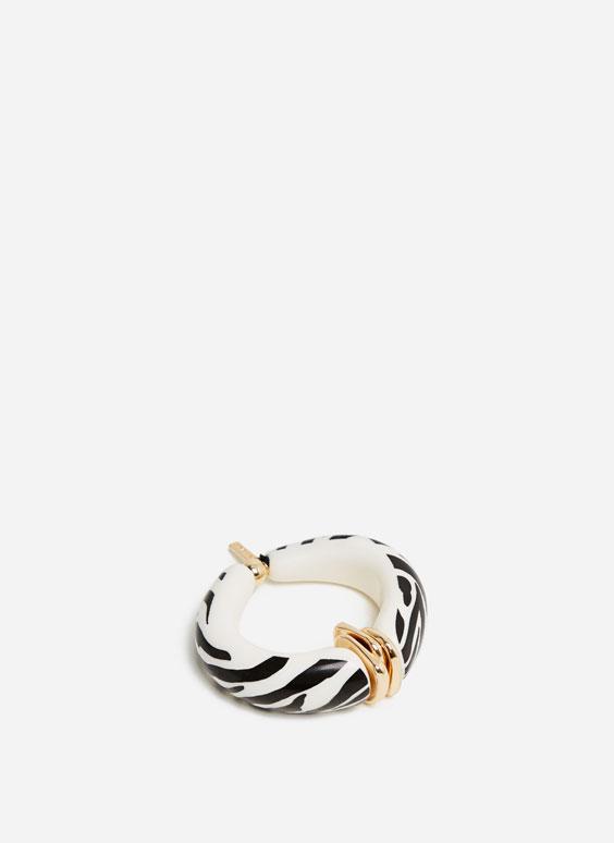 Široka narukvica sa zebrastim motivom