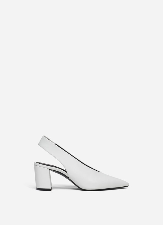 Nappa slingback shoes